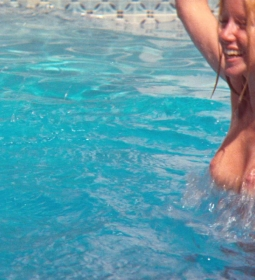 susannesommers bikini bigtits blonde outdoors topless 05