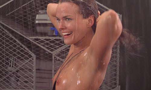 actress dina meyer gets topless in movie