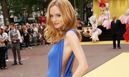 heather graham has hard nipples at movie premiere